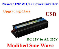 Wholesale Upgrading Newest W Modified Sine Wave Mobile USB Car Power Inverter Adapter DC V to AC V