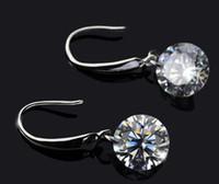 Dangle & Chandelier Silver Bohemian Fashion Long Silver Earrings For Women Naked Drill Cube Zirconia Dangle 30% 925 Sterling Silver Jewelry Austrian Crystal Earrings For Women