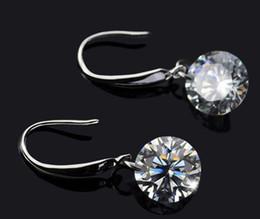 Fashion Long Silver Earrings For Women Naked Drill Cube Zirconia Dangle 30% 925 Sterling Silver Jewelry Austrian Crystal Earrings For Women
