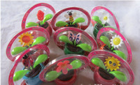 Wholesale Car Auto Swing Solar Flower Magic Powered Flip Flap Flower Dancing Swing Moving Flowerpot Cool Toys