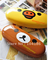 Wholesale Rilakkuma Bear Size CM Plastic Cover with Mirror BOX Case Contact Lens Box Case