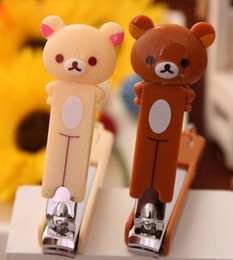 Wholesale Rilakkuma Bear Long Nail Scissors Clippers Finger Nail Trimmers Key Chain Pendant Nail Clippers
