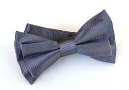 Mens Bowtie Bow Ties Pre-tied Adjustable Dark Gray Solid Microfiber Silk Bow Tie Fashion Accessories Free Shipping