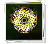 Wholesale Tiffany Style Stained Colorful Glass Ceiling Light With Lights Living Room Dining Room Chandelier