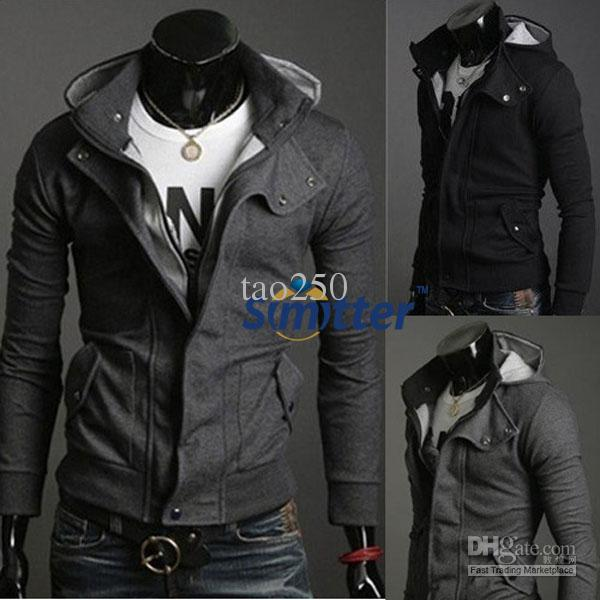 2017 Men 39 S Clothing Jacket Hoodies Sweatshirts New Hot Casual Mens Stylish Coat Slim Long Sleeve