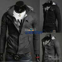 Wholesale Long Sleeve T Shirt Wool - 2016 men's jacket New Hot Casual Mens Stylish Coat Slim Long Sleeve Jacket T-Shirt Top Outwear M L XL XXLfree shipping