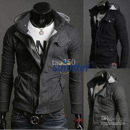 Wholesale 2015 Men s clothing jacket hoodies sweatshirts New Hot Casual Mens Stylish Coat Slim Long Sleeve Jacket T Shirt Top Outwear