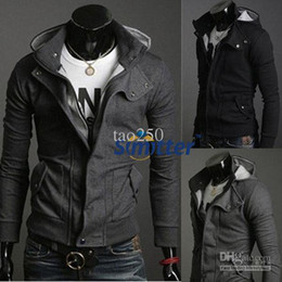 Wholesale New Hot Casual Mens Stylish Coat Slim Long Sleeve Jacket T Shirt Top Outwear