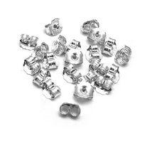 Wholesale Women Men Earrings Plug Jewlery Sterling Silver Earrings Plug back Jewelry findings Accessories From Factory Brand New Hot Ladies
