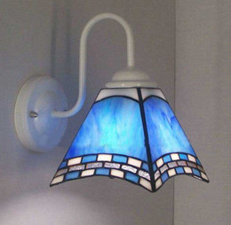 Wholesale Tiffany Artistic Style Color glass Iron Wall Light Lights Aisle Corridor