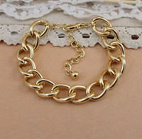 Wholesale New arrival fashion link chain bracelet exquisite punk statement bracelet good quality cheap sale