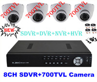 Wholesale CCTV TVL Sony Effio camera CH Full D1 H Super DVR SDVR HVR NVR Security System P HDMI