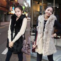 Wholesale HOT New Womens Fashion Casual Artificial fur Sleeveless Men Vest Long Waistcoat Color