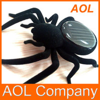 Wholesale Funny Solar Spider Robot Toy Insect Solar Powered Spider Toy Educational Gadget gift