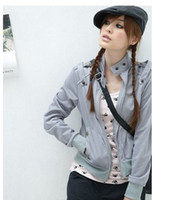 Wholesale clothes fashion Women s jacket solid color lady hot outwear garments
