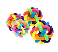 Wholesale 50pieces Pet Toy rubber Balls with small bell DHL FEDEX UPS