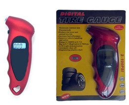 Wholesale Universal Tire Pressure Gauge Red LCD Display Digital Air Pressure Tire Gauge for Any car Lightweight and portable design