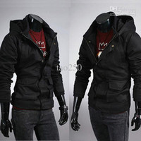 Wholesale men s Outerwear Coats New Men s Jacket Military Hoodie Army Jacket Coat Black Army Green