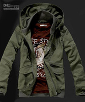 Wholesale Outerwear Coat New Men s Military Hoodie Army Jacket Coat Black Army Green M L XL XXL