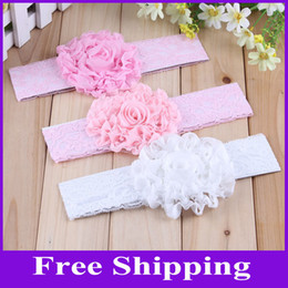 Wholesale Baby Flower Headbands Children Hairbands Hair Accessory Lace Babies Headbands