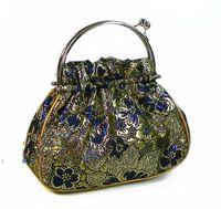 handbags purse clasp - Vintage Evening Bags Handbags Silk Metal Clasp Hand Bag Purses mix color Free