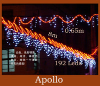 Wholesale Wedding LED Curtain String Light m m leds Icicle Background Christmas Party Holiday Fairy