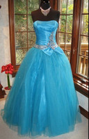 Reference Images Strapless Satin Show Stopping Peacock Jeweled Pageant Prom Gown Dress
