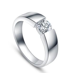 18K White Gold Diamond Men Ring Wedding Ring,Senior Imitation Diamond Ring  Platinum Ring Diamond Ring Wedding Ring Online with $86.86/Piece on Gxfc3\'s  Store ...