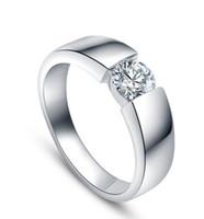 Wholesale K white gold diamond men ring wedding ring Senior imitation diamond ring