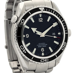 Luxury Mens Planet Ocean Stainless Steel Black Dial Automatic Dive Sport Watches Men's Watches