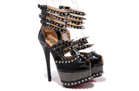 Wholesale Cheap Price Sexy Ladies Spikes Sandals High Heel Shoe Women Shoe Red Bottom Shoes Brand Shoes New Designer Shoes Hot Sales