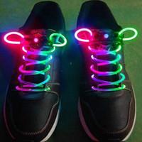 Wholesale 50pcs LED Light Up Shoes Shoelaces Luminous Shoestring Flash Strap Stick Disco Shoelace shoe lace