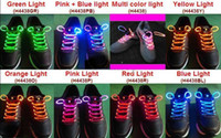 Wholesale LED Flashing Shoelace Light up Shoe Laces Laser pairs Shoelaces Fashionable Jump Change