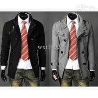 Wholesale New Winter outerwear Jacket Korean Style Self cultivation Business Man Coat Black Gray Size