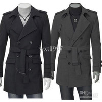 Wholesale Hot Sale Men s Jacket Fashion Double breasted Wool Coat Ladies Cashmere Winter Noble Long Coat
