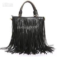 Wholesale 2013 new fashion Women Punk Tassel Fringe handbag Shoulder Bag Black