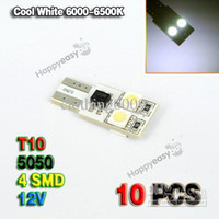 Wholesale 10 Car LED SMD T10 W5W Bulb Side Light Lamp Pure Cool White DC