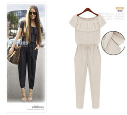 Wholesale 2013 spring amp autumn EUR style elegant fashion chiffon ladies jumpsuits fashion womens pant