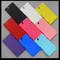 Wholesale Rubberized Oil Matte Frosted Hard Plastic Case Skin Cover Shell for Sony Xperia Z L36i L36h C6603
