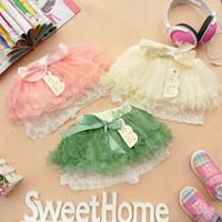 Wholesale 4pcs Girls Skirt Multi layer cake skirt with bow bowknot veil skirt baby Tutu skirt bc14
