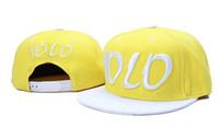 Blue yellow baseball hat - fashion style yellow white yolo baseball adjustable hats snapback hats sports teams caps fashion hat