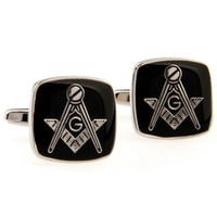 Wholesale Black Color Masonic Cufflinks