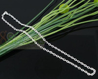 Chains silver plated chain - Promotion Silver Plated Lobster Clasp Link Chain Necklaces quot LT002