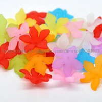 Wholesale mm Assorted Color Flower Acrylic Beads Fashion Jewelry Accessories