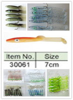 Wholesale New Soft fishing lures soft eel false bait for sea Fresh water fishing With hook or not hook cm