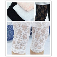 Wholesale Baby Toddler Girls stretch lace capri leggings pants colors Childrens Tights