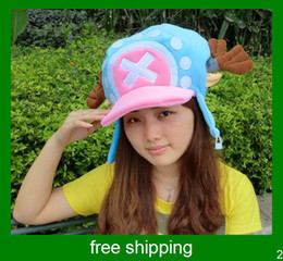 Wholesale Sample Order Popular One Piece Hot Sale Tony Chopper Plush Cloth Cosplay Hat For