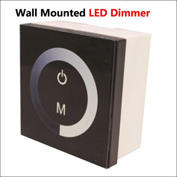 online cheap 12 24v dc 8a wall mounted touch panel led dimmer controller used. Black Bedroom Furniture Sets. Home Design Ideas