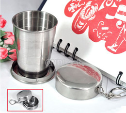 Wholesale Hot Selling Camping Folding Collapsible Cup Telescopic Mini Portable Stainless Steel Travel