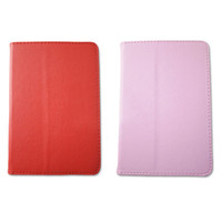 Wholesale Protective Leather Case Cover with stand holder For inch AllWinner A13 Q88 Q8 Tablet PC color